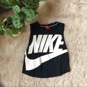 Nike Black Graphic Logo Tank Top